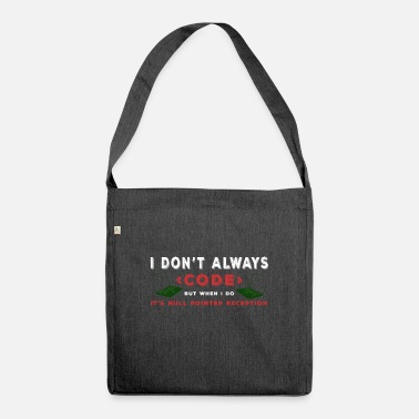 Computer Science Programmer Funny gift idea - Shoulder Bag recycled