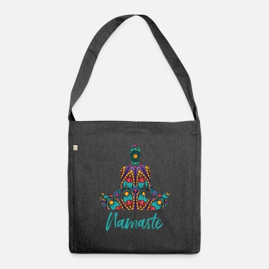 Meditation Meditate meditate meditation - Shoulder Bag recycled