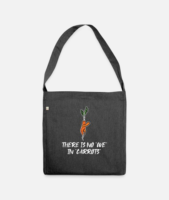 Vegetables Bags & Backpacks - Carrot Carrot Carrot - Shoulder Bag recycled heather black