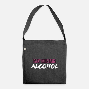Beerathlon May Contain Alcohol Beer Sarcasm Graphic - Shoulder Bag recycled