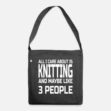 Knitting Care about knitting - Shoulder Bag recycled