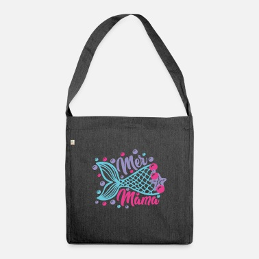 Moeder MERMAID MAMA | MERMAID MOMMY - Schoudertas van gerecycled materiaal