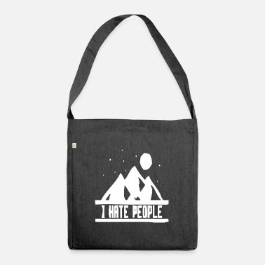 Hill Billy Natur hill berg berge wandern funny fun - Umhängetasche aus Recyclingmaterial