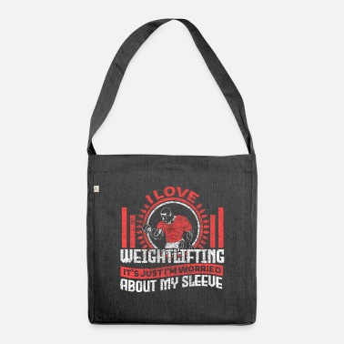 Biceps Weightlifting weight training fitness gift - Shoulder Bag recycled