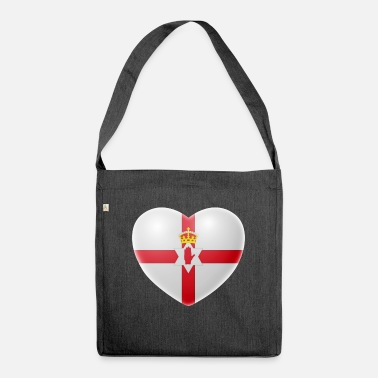 Northern Ireland Symbols Heart (Northern Ireland) - Shoulder Bag recycled