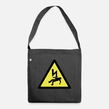 Electric Shock Danger of Electric Shock - Shoulder Bag recycled