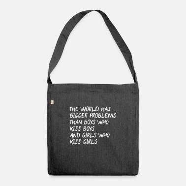 Statement Against Statement against homophobia - Shoulder Bag recycled