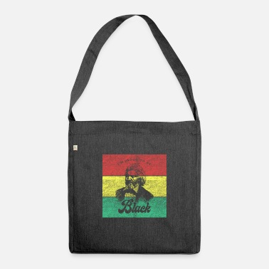 Proud Black African History Month gift - Shoulder Bag recycled