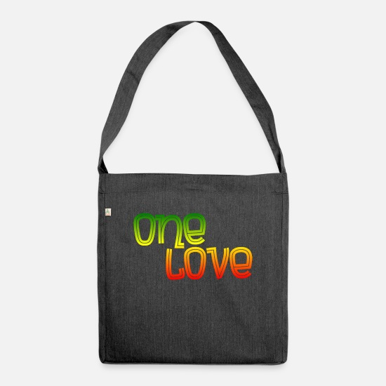 Dub Bags & Backpacks - One love - Shoulder Bag recycled heather black