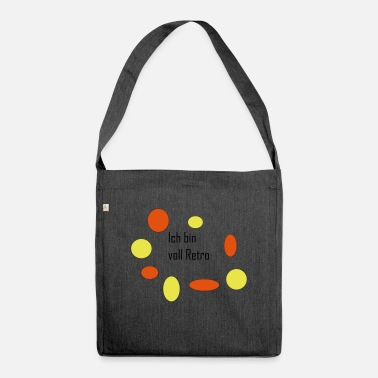 I am full of retro - Shoulder Bag recycled