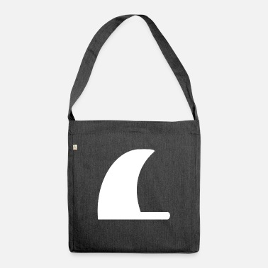 Fin shark fin - Shoulder Bag recycled