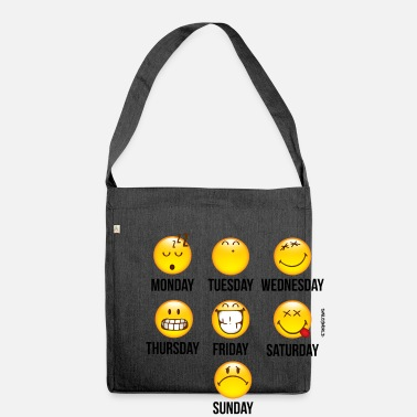 SmileyWorld Weekly Overview - Shoulder Bag recycled