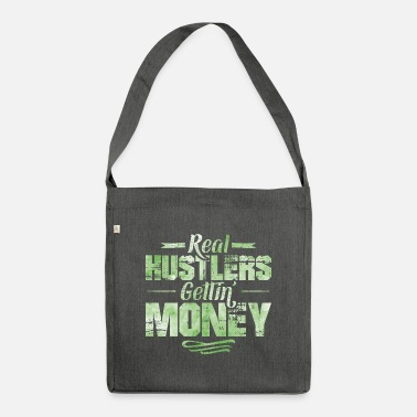 Dollar Hustle Hip Hop Rap Spruch Money - Umhängetasche aus Recyclingmaterial