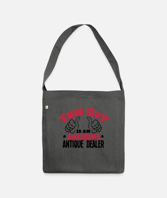 Awesome Bags & Backpacks - this guy is an awesome antique dealer 2c - Shoulder Bag recycled dark grey heather