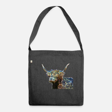 Multi Coloured Multi coloured Highland cow - Shoulder Bag recycled