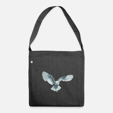 Owl barn owl - Shoulder Bag recycled