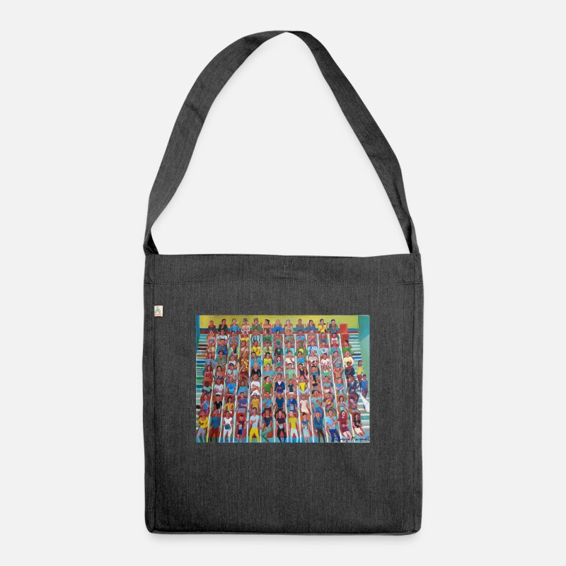 Animated Film Bags & Backpacks - At the cinema - Shoulder Bag recycled heather black