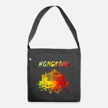 Far East Hong Kong Skyline / Gift Far East China - Shoulder Bag recycled