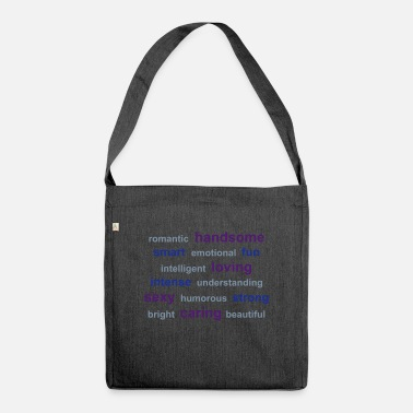 Friends tag cloud - Shoulder Bag recycled