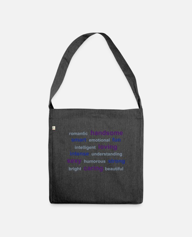Programmemer Bags & Backpacks - tag cloud - Shoulder Bag recycled heather black