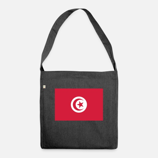 Flag Bags & Backpacks - Tunisia - Shoulder Bag recycled heather black