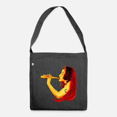 Satyr Satyr with flute - Shoulder Bag recycled