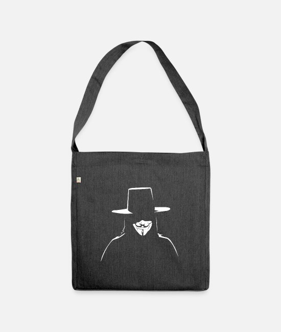Obey Bags & Backpacks - Anonymous - We are legion - Expect us - Shoulder Bag recycled heather black