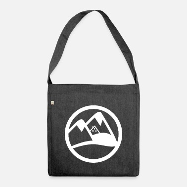 Ski Hut ski hut in alps - Shoulder Bag recycled