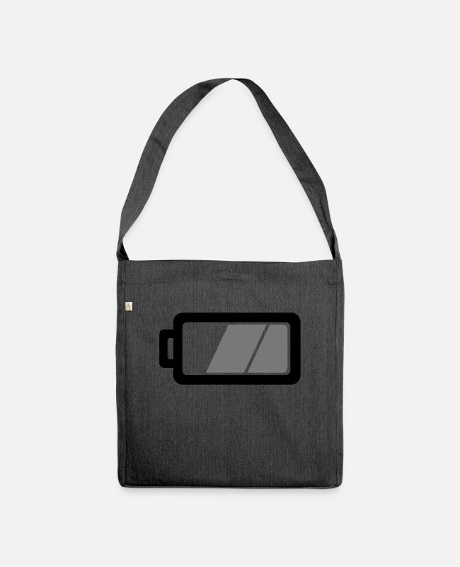 Charging Time And Standby Bags & Backpacks - Battery - Shoulder Bag recycled heather black
