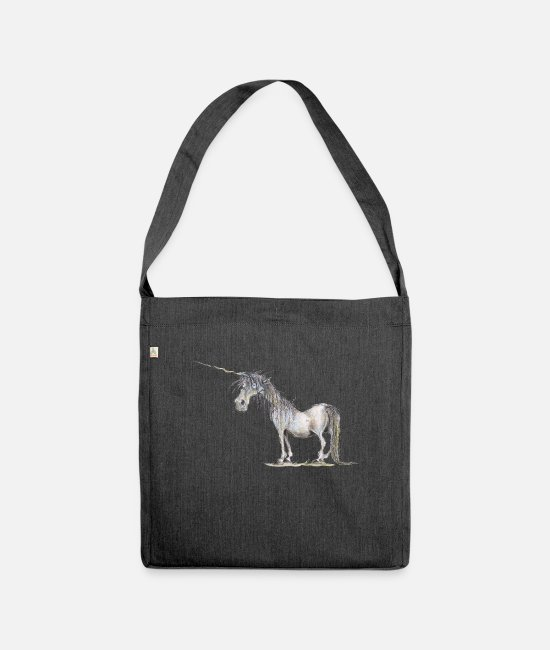 Fairy Tale Figure Bags & Backpacks - The Last Unicorn - Shoulder Bag recycled heather black
