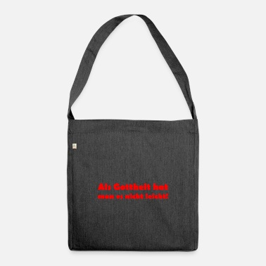 Deity As a deity, it is not easy. - Shoulder Bag recycled
