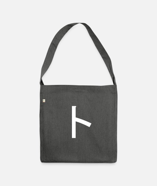 Characters Bags & Backpacks - To Japanese Katakana - Shoulder Bag recycled dark grey heather
