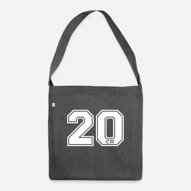 Motto 20 centimeter - Shoulder Bag recycled