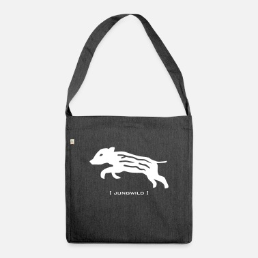Frischling Wild boar piglets Jungwild frischling animal - Shoulder Bag recycled