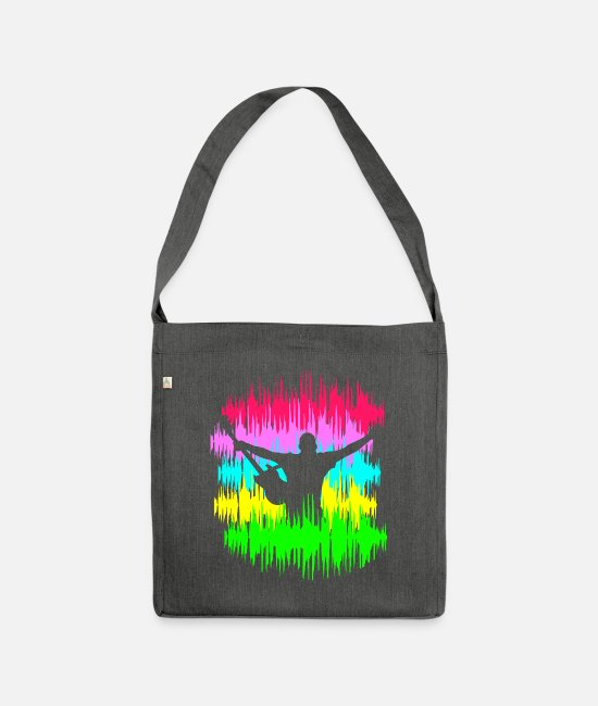 Music Bags & Backpacks - music music - Shoulder Bag recycled dark grey heather