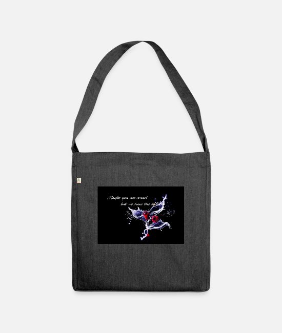 Water Bags & Backpacks - Cherry - Maybe you are smart - Shoulder Bag recycled heather black