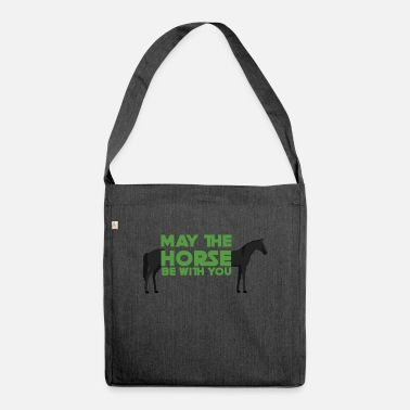 May The Horse Pferd / Bauernhof: May The Horse Be With You - Umhängetasche aus Recyclingmaterial