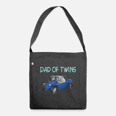 Dad of twins - daddy of twins - Shoulder Bag recycled