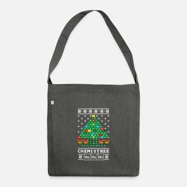 Chemistry Laboratory Christmas Tree Periodic Table Lab - Shoulder Bag recycled