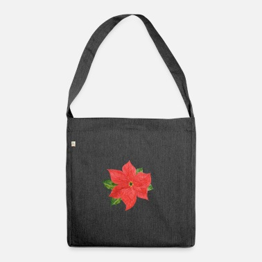 Poinsettia Poinsettia plant - Shoulder Bag recycled