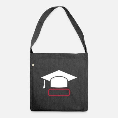 Dissertation Doktorhut gift for doctoral dissertation - Shoulder Bag recycled