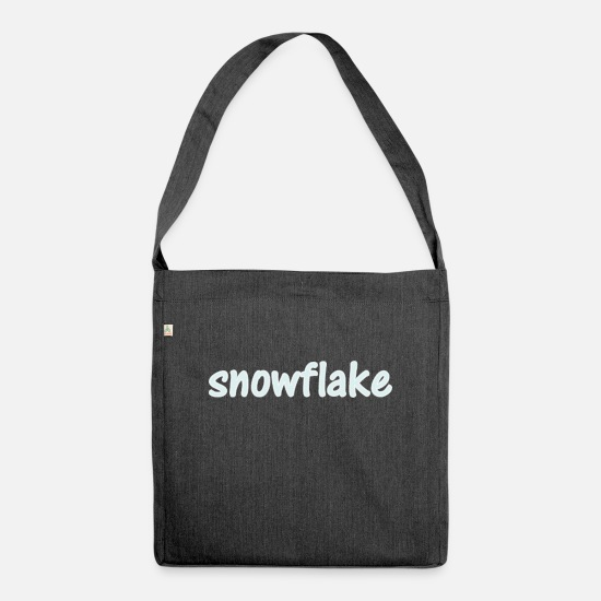 Birthday Bags & Backpacks - snowflake - Shoulder Bag recycled heather black