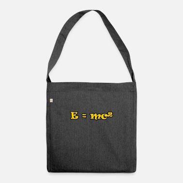 E = mc² - Shoulder Bag recycled