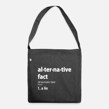 Alternative Alternatives Faktenangebot - Umhängetasche aus Recyclingmaterial