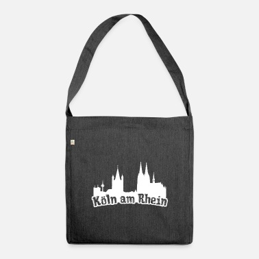 Cologne On The Rhine Cologne on the Rhine Kölsch Kölle Cologne Cathedral Rhineland - Shoulder Bag recycled