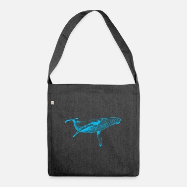 &amp Blue Whale (Neon) - Shoulder Bag recycled