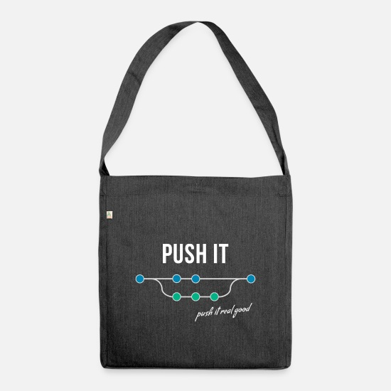 Sprinting Bags & Backpacks - Push it - Shoulder Bag recycled heather black
