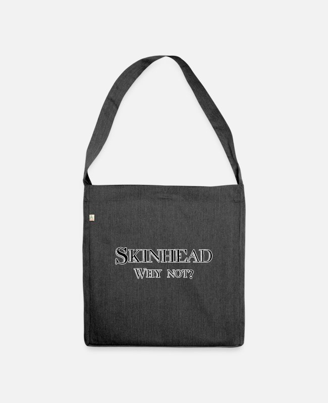 Ska Punk Bags & Backpacks - Skinhead, why not? - Shoulder Bag recycled heather black