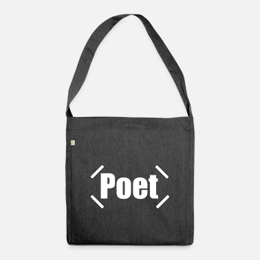 Poet poet - Shoulder Bag recycled