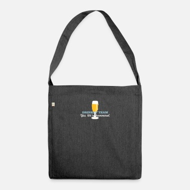 Tulp Papas liebste Tulpe / fathers day tulip (Bier, 2c) - Shoulder Bag recycled